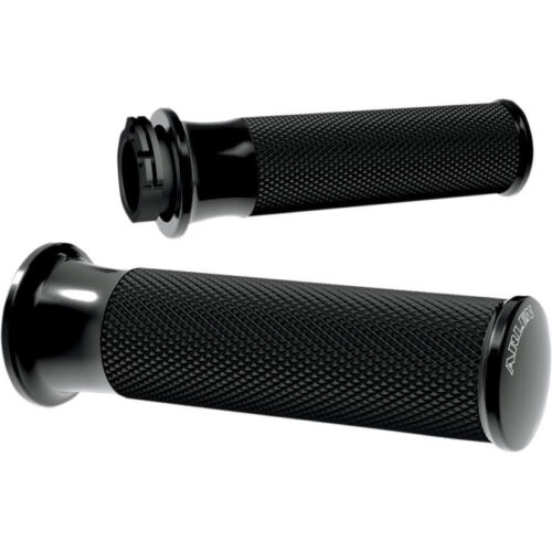 Arlen Ness Black Smoothie Fusion Grips For Harley Davidson Dual Cable 1982-2019