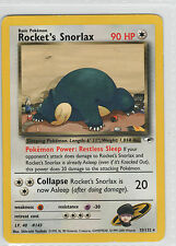 Rocket's Snorlax . Gym Heroes . 33/132 . Pokemon TCG . LP . Rare