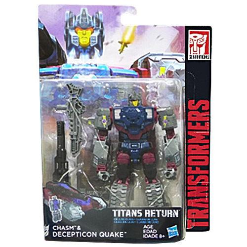 Transformers Generations Titans Return W4 Deluxe Chasm & Decepticon Quake