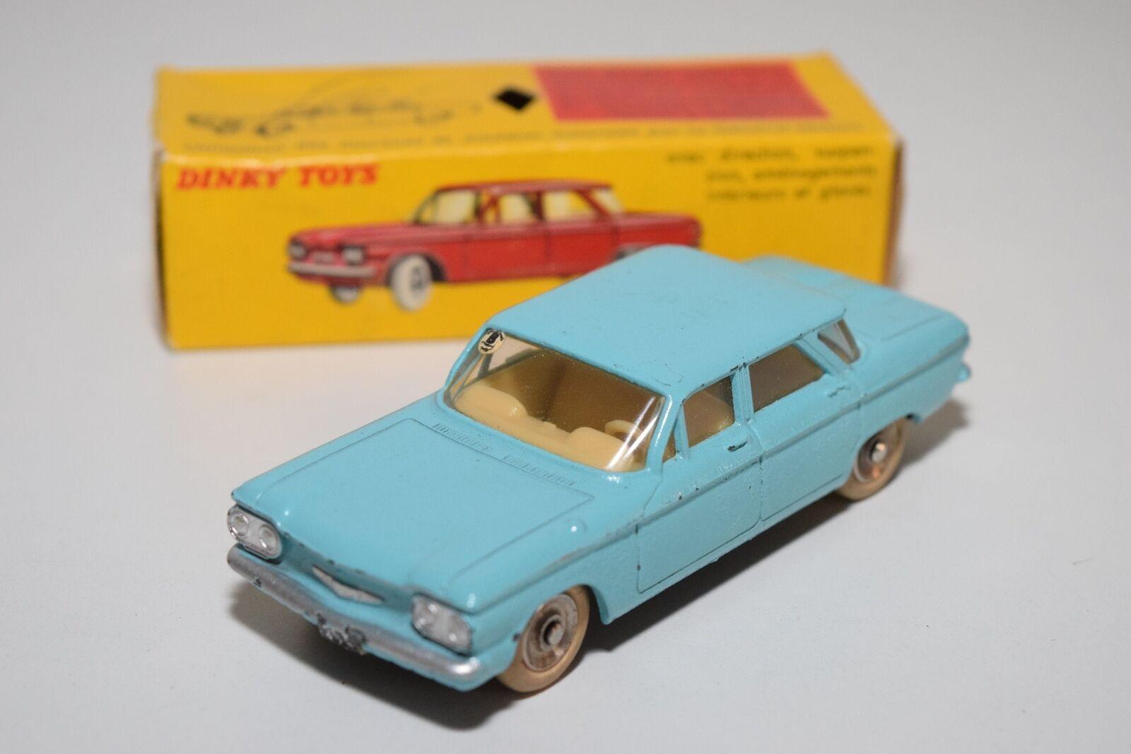 spedizione gratuita! F DINKY giocattoli 552 CHEVROLET CORVAIR CORVAIR CORVAIR LIGHT blu EXCELLENT scatolaED  salutare