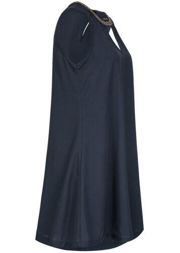 50/% OFF B17094809 Damen Vero Moda Kleid Midi Deko Perlen lockerer Schnitt blau