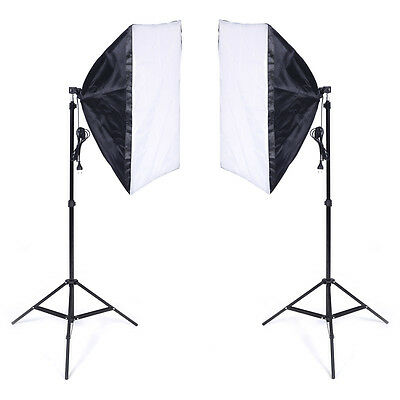 Softbox studio photo kit 50*70cm E27 Kit éclairage + 2 Trépied 2 pcs NEUF