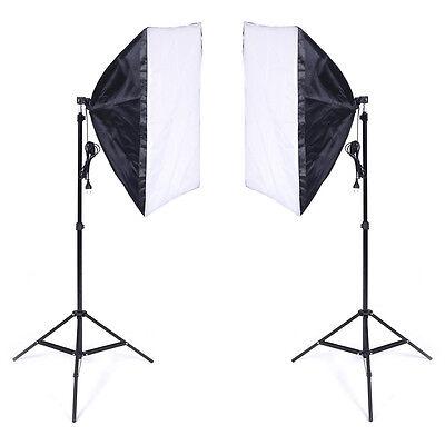 Softbox studio photo kit 50*70cm E27 Kit éclairage + 2 Trépied 2 pcs NEUF