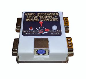 Neu-Commodore-64-C64-Joystick-Freude-Umschalter-Schaltung-Plus-Ps-2-Maus-Teil