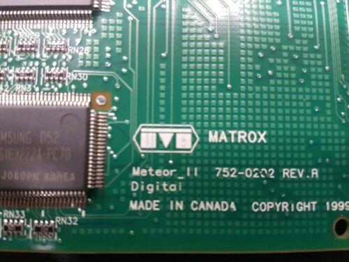 MATROX METEOR2-DIG//4//L 752-02 REV A