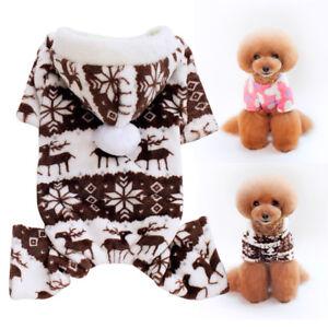 3e4950ff9311 Winter Fleece Dog Jumpsuit Warm Pet Dog Pajamas Puppy Christmas ...