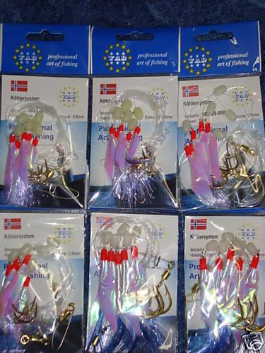 Kohler Pollack Mackerel System Bundle Set each 2x 3//0 5//0 7//0 = 6 Norway New