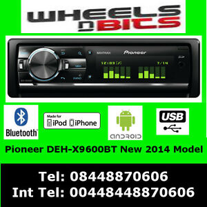 PIONEER-DEH-X9600BT-CD-MP3-SD-2-x-USB-BLUETOOTH-iPOD-iPhone-amp-ANDROID