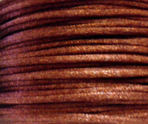 2 Meter Satinschnur 2 mm braun für Ketten Band stabil