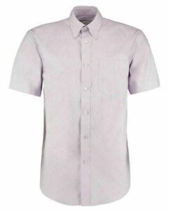 Lila-Kustom-Kit-KK109-para-hombre-Camisa-De-Manga-Corta-Boda-de-trabajo-de-oficina-informal