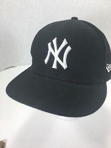 c69a9eba4 New Era NY Yankees Fitted Hat 7 1/8 Black 59 Fifty MLB Genuine ...