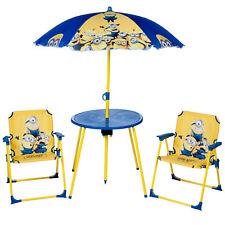 Disney Frozen Garden Table Chairs Umbrella Childrens Outdoor Summer