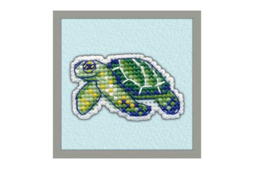 Realizar un encantador pequeño Insignia con este horno Cross Stitch Kit-Turtle