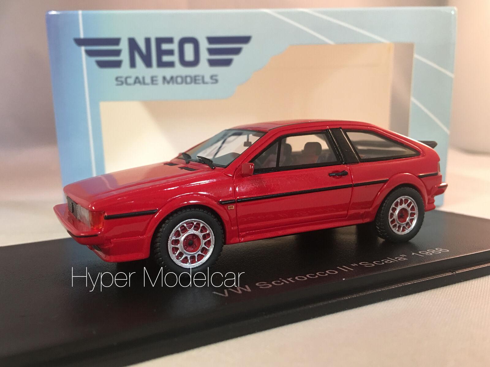 NEO SCALE MODELS 1 43 VOLKSWAGEN SCIROCCO II  SCALA  1986 rot ART. NEO43042