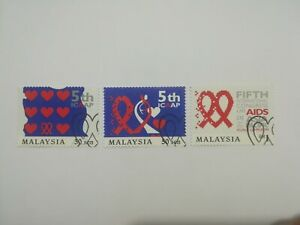 Malaysia Stamp 1999 5th ICAAP Congress on AIDS Unused & CTO ~ 5 pcs