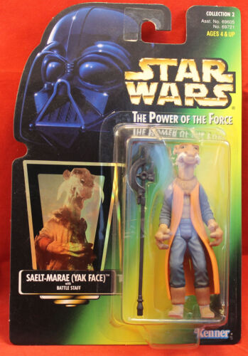 Star Wars Power of the Force Power of the Force carte verte Saelt-Marae Yak Face .00