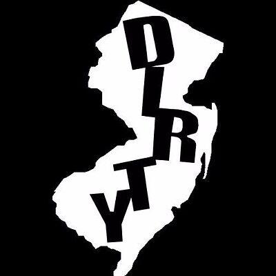 "6/"" White Jersey Brass Knuckles NJ silhouette Vinyl Decal Window Sticker"