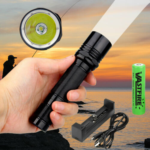 6P LED Hunting Flashlight Tactical Torch For Picatinny Rail Scope Mount 18650