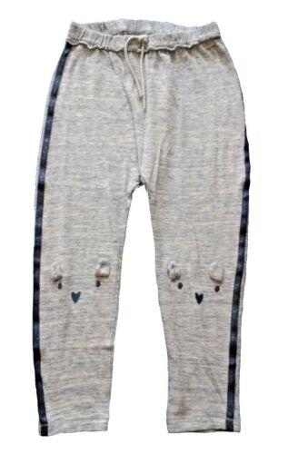 NUOVO per bambina Next Pantaloni sportivi età 3 4 5 ANNI ORSO ginocchio Pantaloni Casual Jogging Bottoms