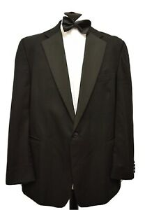 Ms4199 Austin Reed Men S Black Tuxedo Suit Jacket Blazer Size 48r Ebay