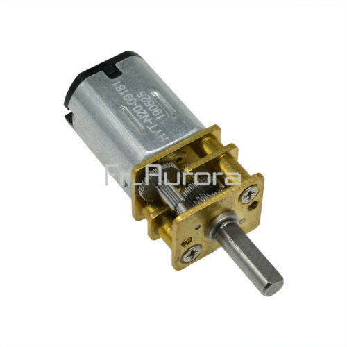 DC 3V 6V 12V//100RPM Micro Speed Reduction Gear Motor Wheel Shaft Metal Gearbox