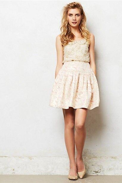 NIP  Anthropologie Sugarplum Brocade Skirt by Moulinette Soeurs Size 8