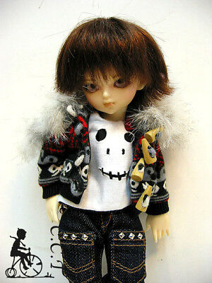 C.C.T Yo SD Super Dollfie BJD outfit Tight Pants Gray and White