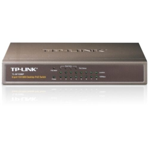 TP-LINK TL-SF1008P 8-port 10//100M Layer 2 Switch with 4 PoE Non-Managed Network