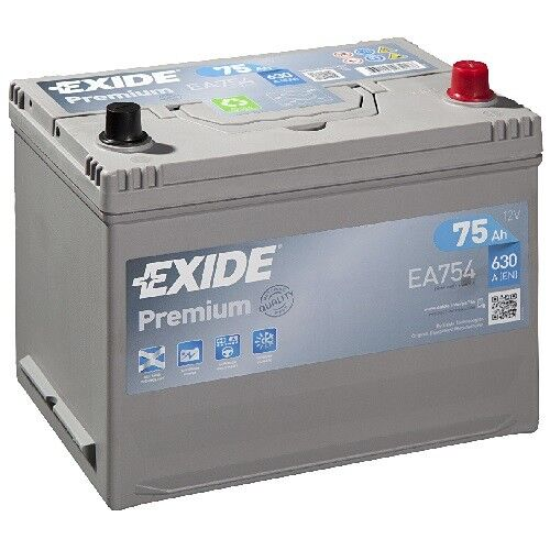 Exide Premium Carbon Boost 75Ah 630A Autobatterie EA754 *sofort einsatzbereit*