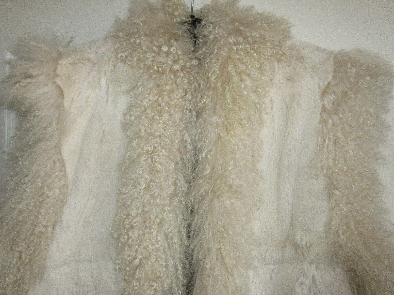 Ladies Fur Vest , Couture , Unique Designer Made , Vint