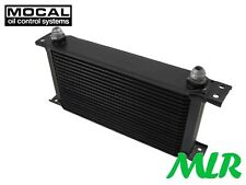 Mocal Heavy Duty Engine Oil Cooler 10 Row 8 JIC Male Fitting 235mm
