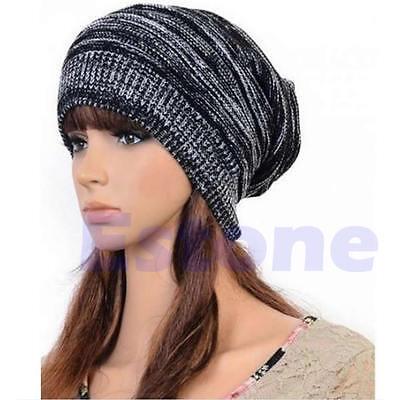 New Men Women's Knit Baggy Beanie Beret Hat Winter Warm Oversized Ski Unisex Cap