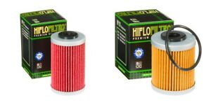 KTM-SXF-450-2003-2007-Oil-Filter-Set-HiFlofiltro-HF155-HF157-Pair-1st-amp-2nd