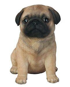 Image Is Loading Sitting PUG Puppy Dog Life Like Figurine Statue