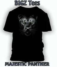 Big and Tall Graphic T Shirt Majestic White Tiger Mens Black Pro Club T Shirt