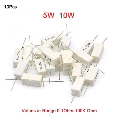 Huante 10x Wirewound Ceramic Cement Resistors 100 Ohm 5W Watt 5/%