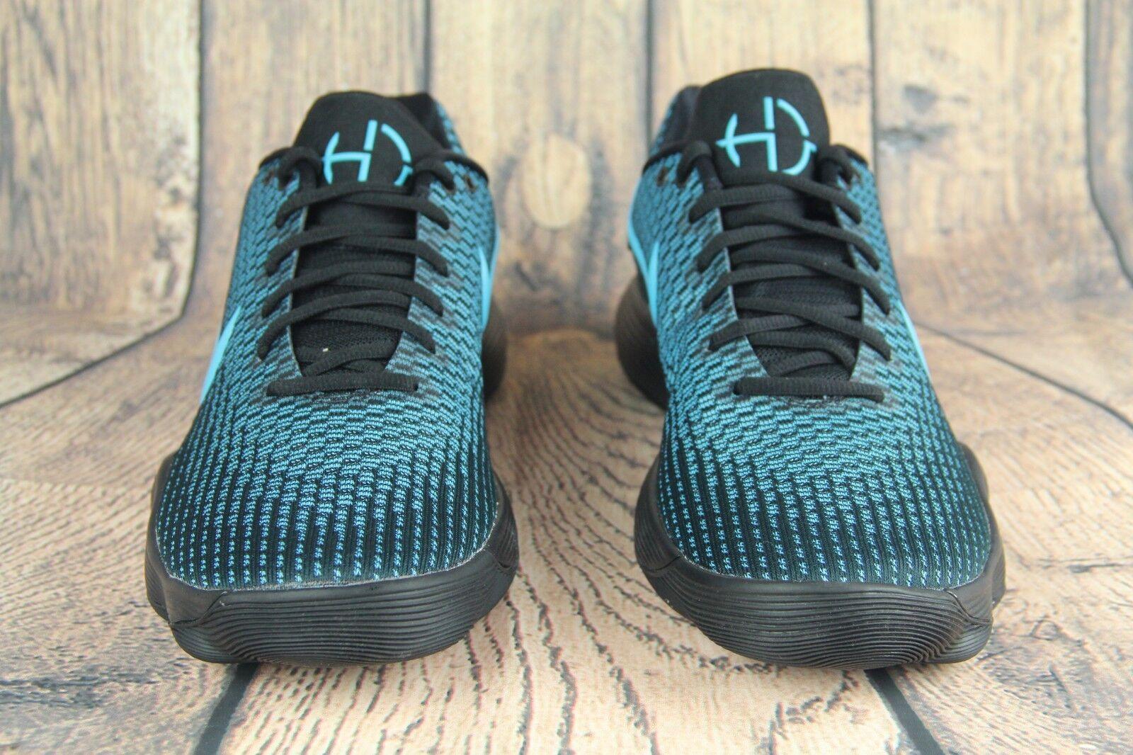 Mens Nike Hyperdunk 2017 Low Basketball shoes Black Chlorine bluee 897663-005 SZ