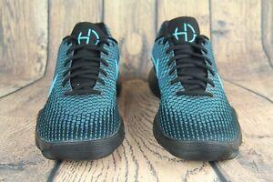 304e22fe0574 Mens Nike Hyperdunk 2017 Low Basketball Shoes Black Chlorine Blue ...