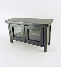 Dollhouse Miniature Black Hall Table or TV Stand, CLA10918