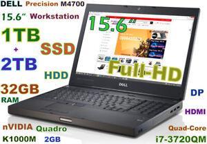 Workstation-DELL-M4700-i7-Quad-1TB-SSD-2TB-HDD-32GB-Quadro-15-6-FHD