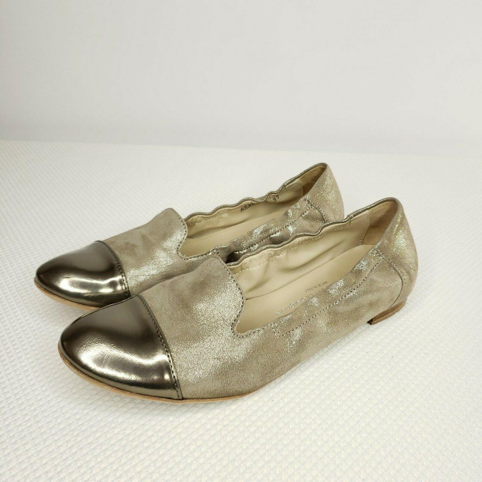 AGL ATTILIO GIUSTI LEOMBRUNI Size 7 US Ginger gold Ballet Flats shoes 37 EU