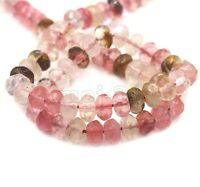 5x8mm Natural Faceted Multicolor Tourmaline Gemstone Rondelle Loose Beads 15""
