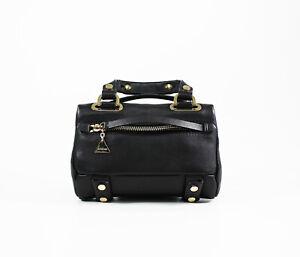 Bolso Golden Duo de Lane Mini Black cuero OO7rwx