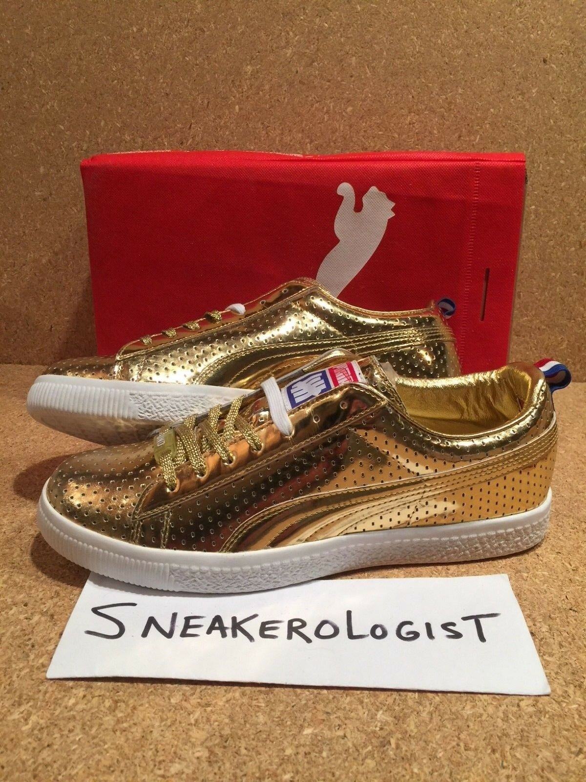 PUMA X UNDFTD GAMETIME SZ 9 metallic 24k gold undefeated friends family promo le