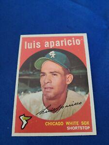 1959 TOPPS LUIS APARICIO #310 HOF WHITE SOX NICE & CLEAN PSA WORTHY