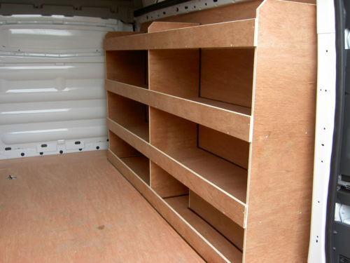 Nissan Primastar SWB Ply racking,shelving,Storage Tool Storage In Your Van PR37