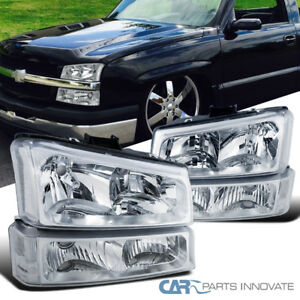 Image Is Loading 03 07 Chevy Silverado Avalanche Pickup Clear Headlights