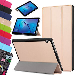 Pour-Huawei-MediaPad-T3-7-0-034-8-034-10-034-En-Cuir-Mince-Intelligent-Etui-Support-Tablette-UK