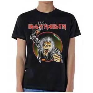 6877bdaf Brand New Men's Iron Maiden Eddie With Hook Heavy Metal Cotton T ...