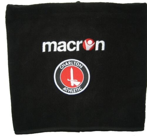 MACRON Polaire Cou Plus Chaud écharpe tube bonnets écharpe Charlton Athletic XL Noir